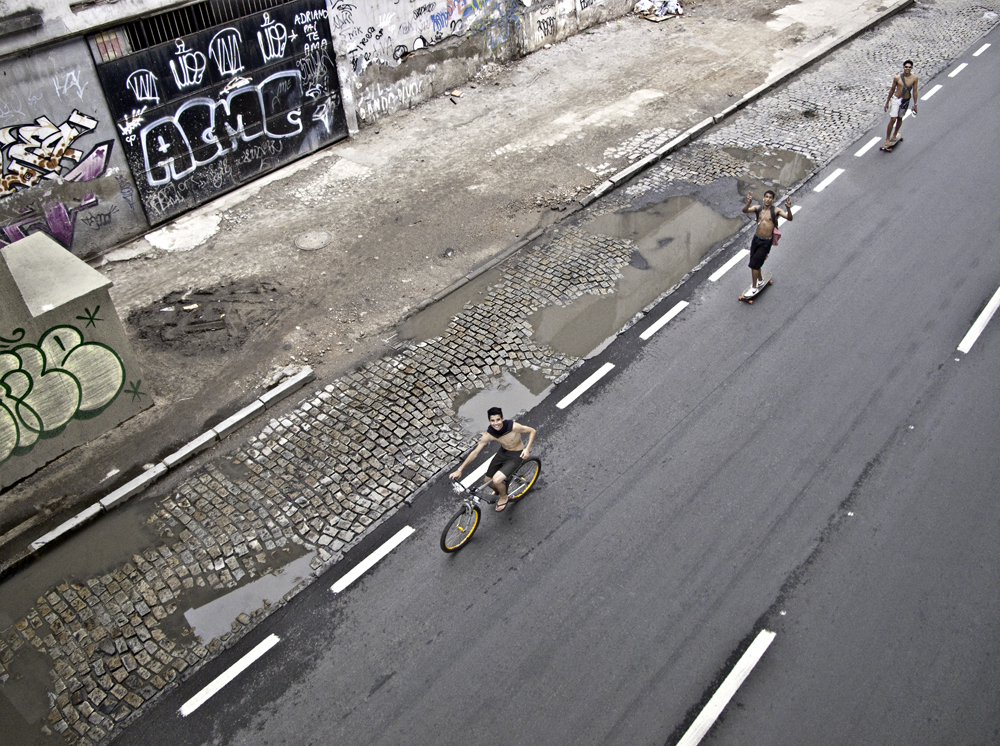 Cyclist and Skateboarders, Rio 2011