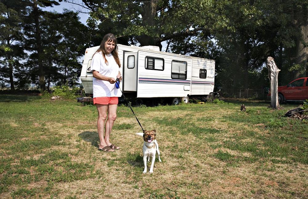 Woman and Dog, Illinois 2007