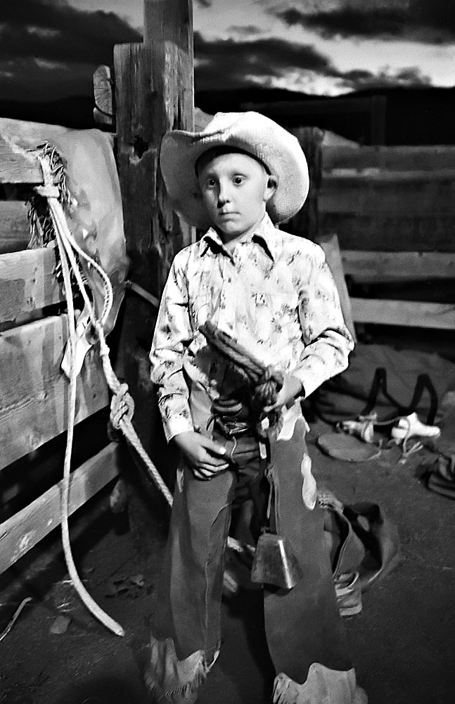 Young Bull Rider Colorado 1972